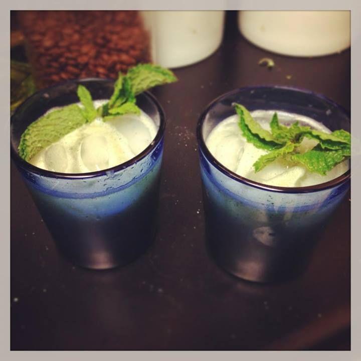 homemade mint, melon, and lime agua fresca! Didn't put it through a ...