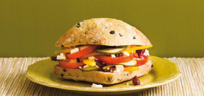 Greek Salad Sandwich | Favorite Recipes | Pinterest