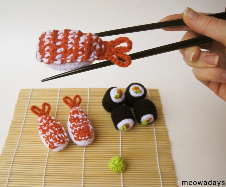 Amigurumi Sushi Cat : SUSHI CAT TOY catnip sashimi crochet organic crocheted pet ...