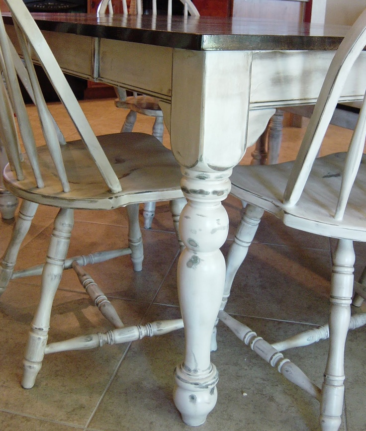 Refinish kitchen table and chairs diy pinterest - Refinished kitchen table ...