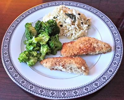 Herb Crusted Chicken with Basil Feta Orzo | Recipe