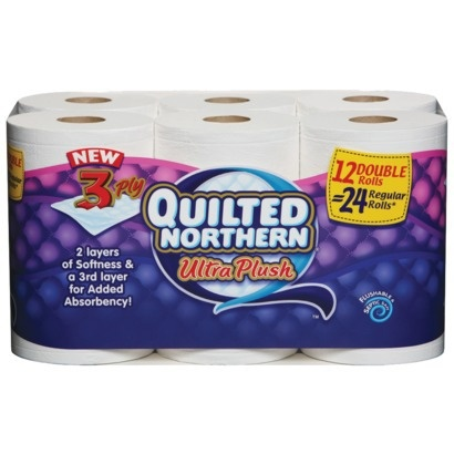 Quilted Northern Ultra Plush Mega Roll - WOW   a 3-Ply   I Definitely    Quilted Northern Ultra Plush Barcode