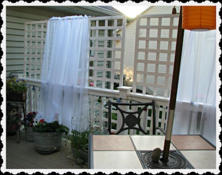 Deck Privacy Curtain | Deck Decor | Pinterest