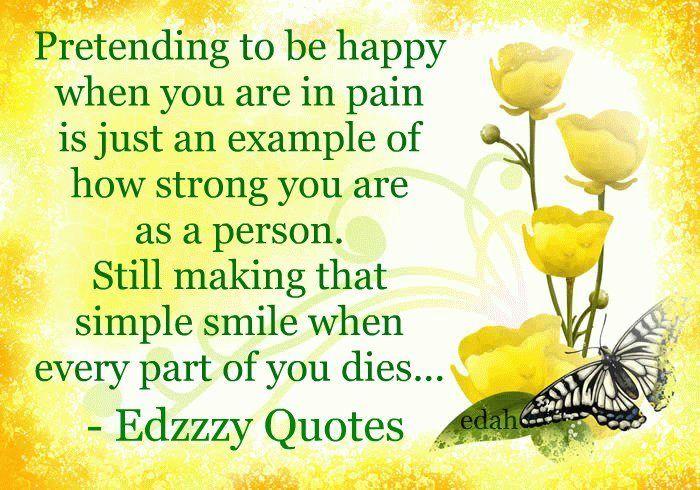 Pretending To Be Happy