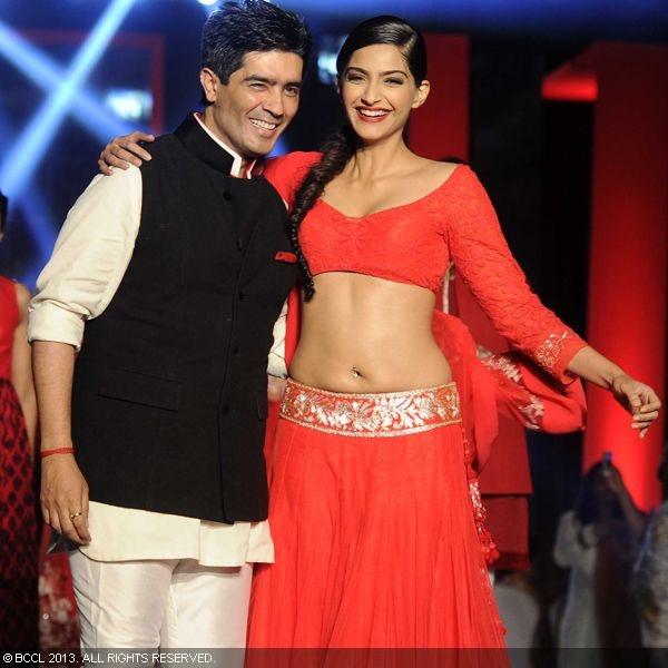 Manish Malhotra and Sonam Kapoor | More traditional | Pinterest