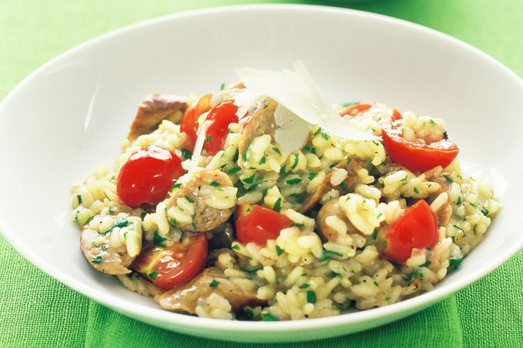 More like this: cherry tomatoes , risotto and sausage .