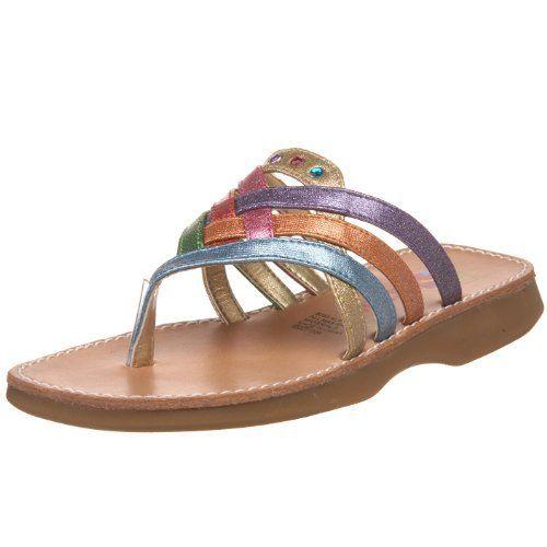 Rachel Shoes Little Kid/Big Kid Alana Sandal,Multi Combo,5 M US Big