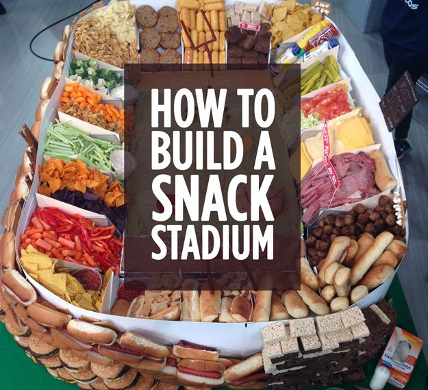How To Build A Super Bowl Snack Stadium (as featured on Good Morning America)