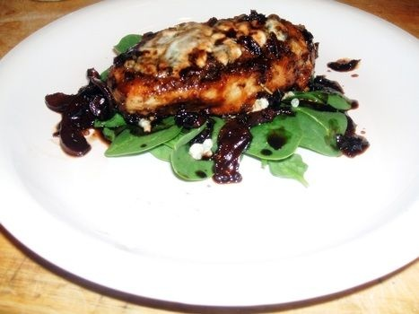 Pan Seared Chicken With Blue Cheese In A Balsamic Reduction | Recipe