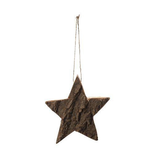 Étoile en écorce à suspendre - Noël Naturel