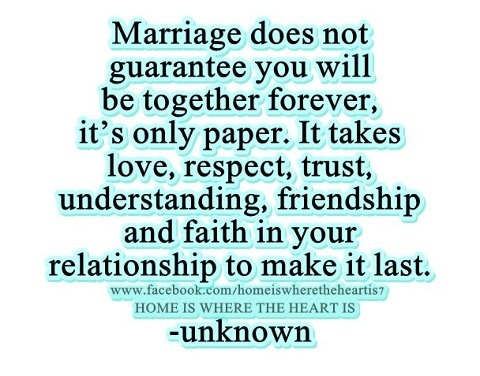 guarantee of a forever marriage quotes inspirational