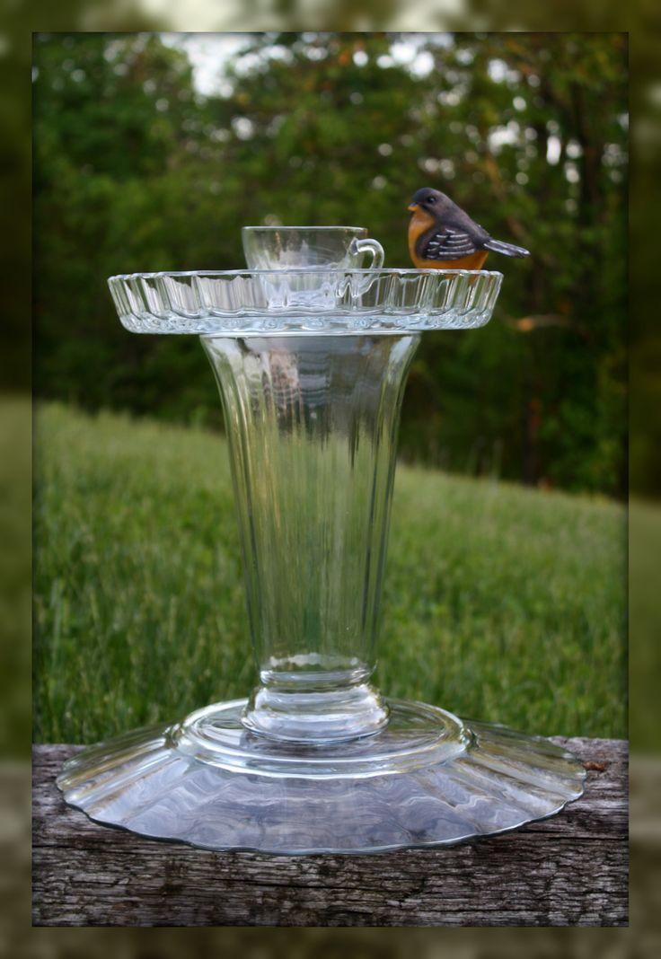 My Homemade Bird Feeder Bath Green Garden Pinterest