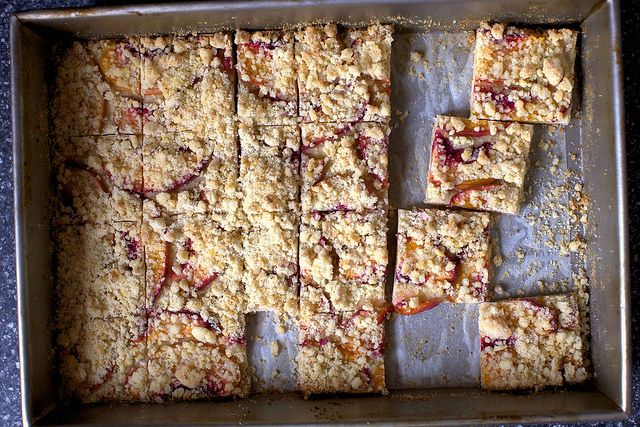 Peach shortbread | smitten kitchen [Cover the entire surface in peach ...