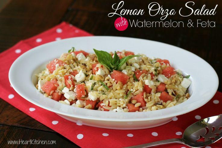 Lemon Orzo Salad with Watermelon & Feta   Recipe
