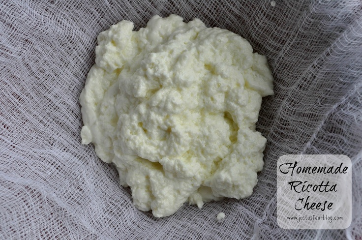 Homemade Ricotta Cheese. I had no idea this was so easy! Ricotta costs ...