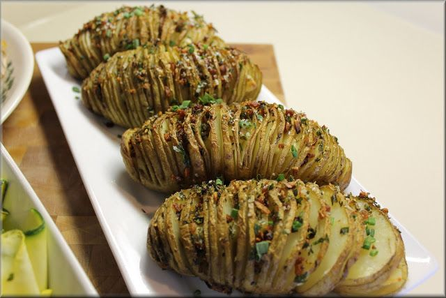 Herb & Garlic Hasselback Potatoes | Sides | Pinterest