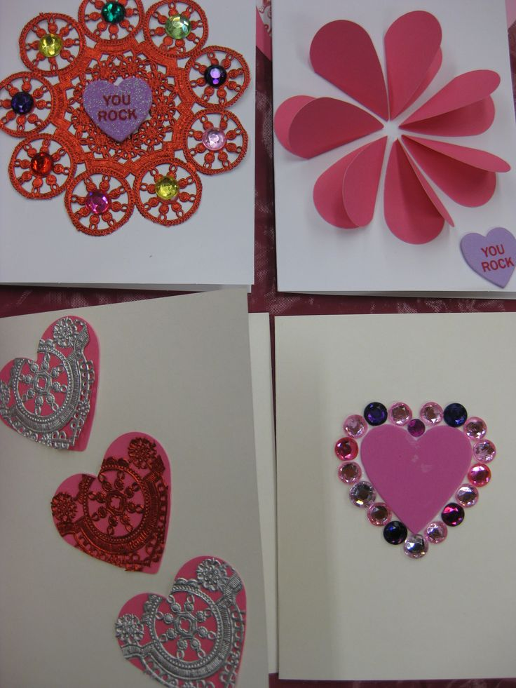 Valentine's card making! | Library Paper Crafts! | Pinterest: pinterest.com/pin/281193570458175727