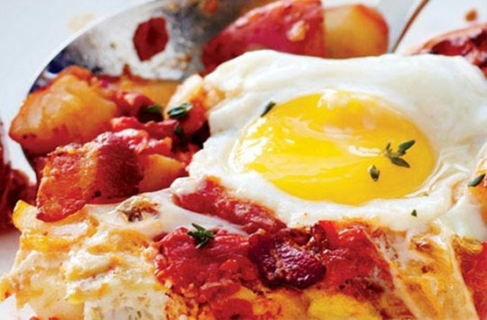 Baked Eggs With Tomatoes & Smoky Potatoes Recipes — Dishmaps