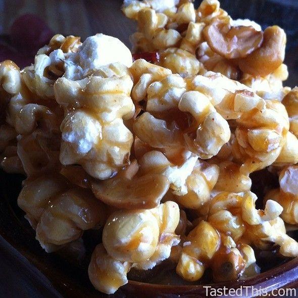 Bourban Bacon Cashew Caramel Popcorn - http://www.tastedthis.com/2013 ...