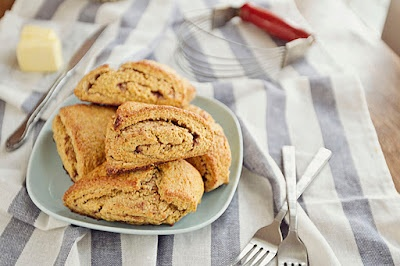 "Pumpkin ""Cinnamon Roll"" Scones (made w/whole wheat pastry flour)"