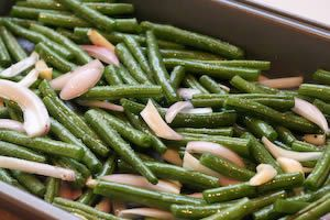 ... Kitchen®: Garlic-Roasted Green Beans Recipe with Shallots and Almonds