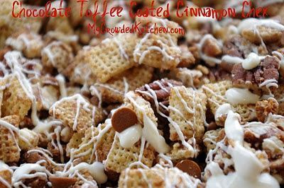 Chocolate Toffee Coated Cinnamon Chex Mix Ingredients: 1 box 13.5 oz ...