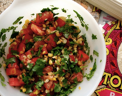 Zucchini & Chile Quesadillas with Roasted Corn & Garlic Salsa by ...