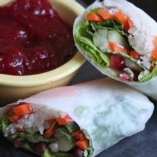 Leftover Turkey Spring Rolls with Cranberry Sweet and Sour Dipping ...