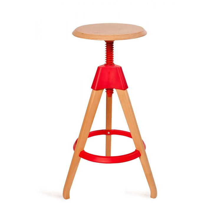 Red Pop Color Stool