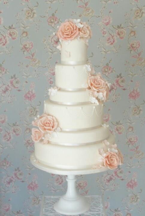 Peach Wedding Cake Wedding Pinterest