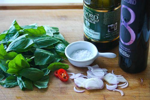 Caprese Salad with Basil Vinaigrette