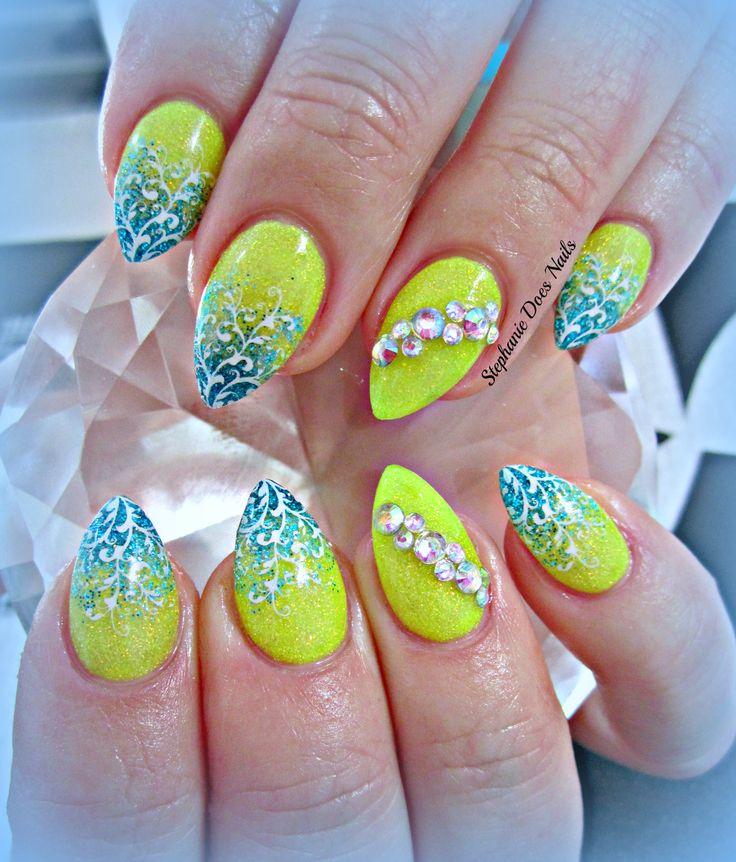 Neon Acrylic Nails – ledufa.com