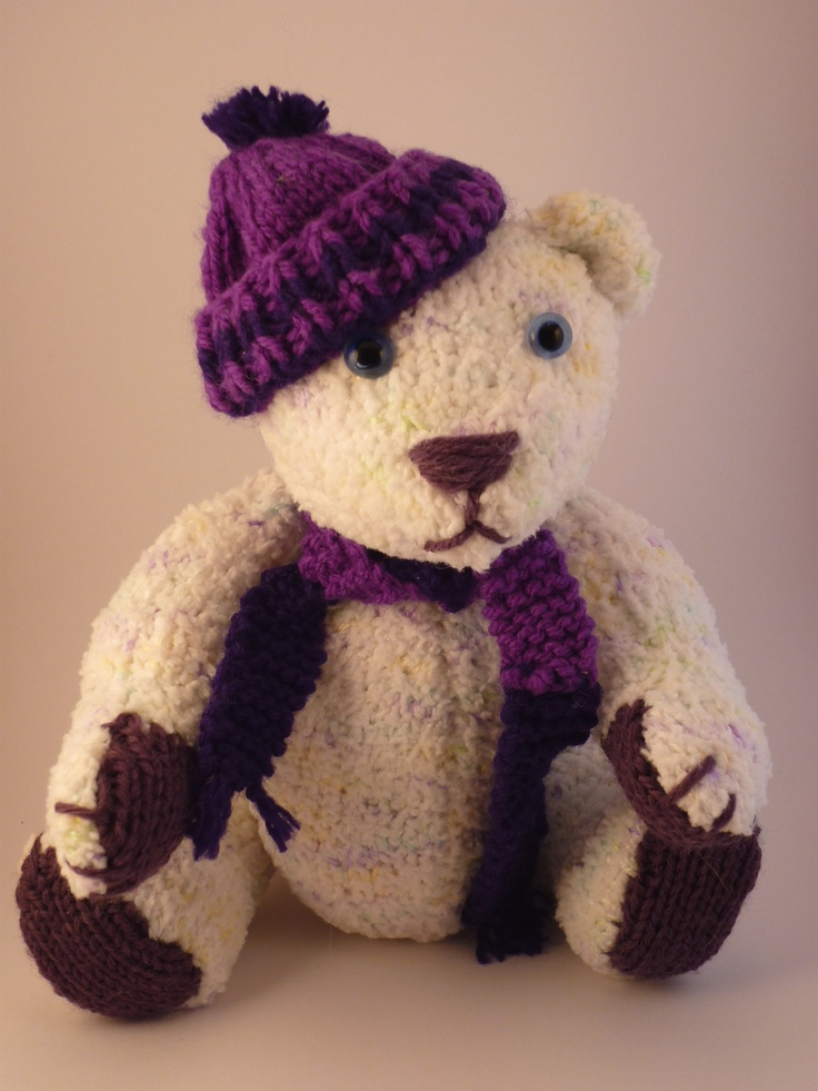 Knitted Teddy Bear Pattern Books : Pin by Diane Sheppard on things I have made Pinterest