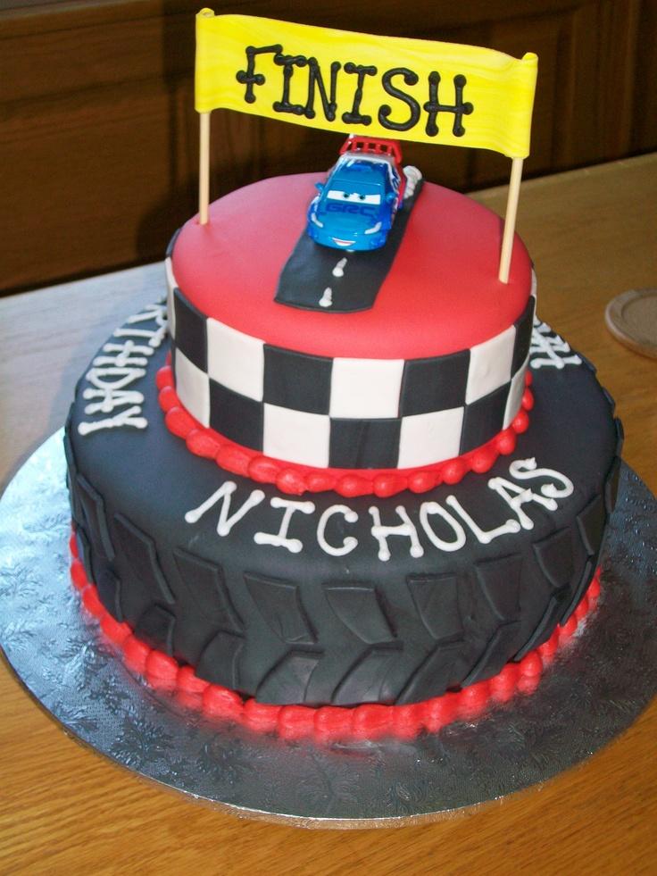 Birthday Cake Photos Racing Car : Race Car birthday cake! Party Ideas Pinterest