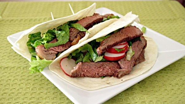 Steak and Salad Tacos | Recipe