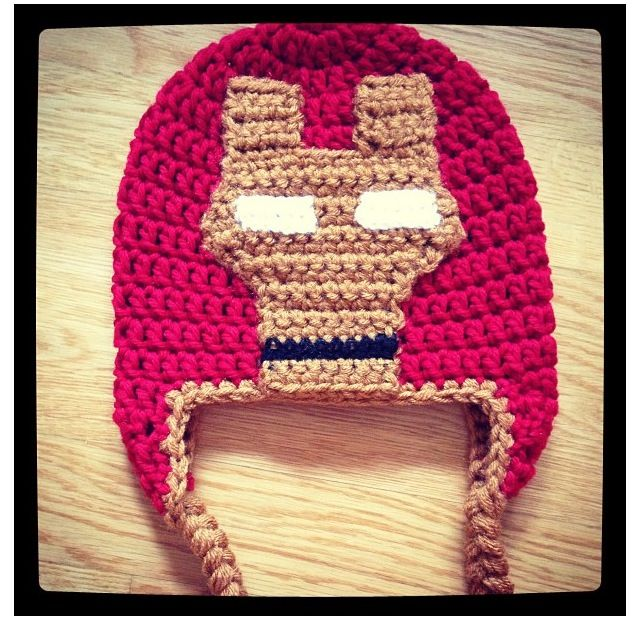 Gallery For > Iron Man Hat Of Crochet