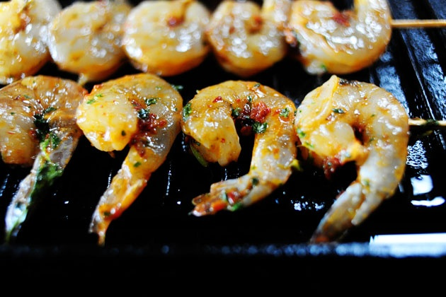 Grilled Coconut Milk Shrimp with Honey Lime Glaze...will definitely be ...