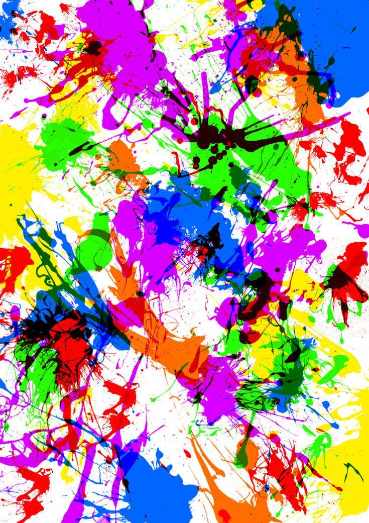 Neon Splatter Paint Walls
