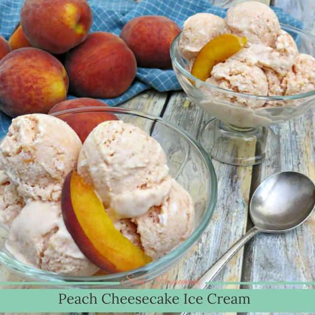 Semi-Homemade Peach Cheesecake Ice Cream‏ | Growing up Madison