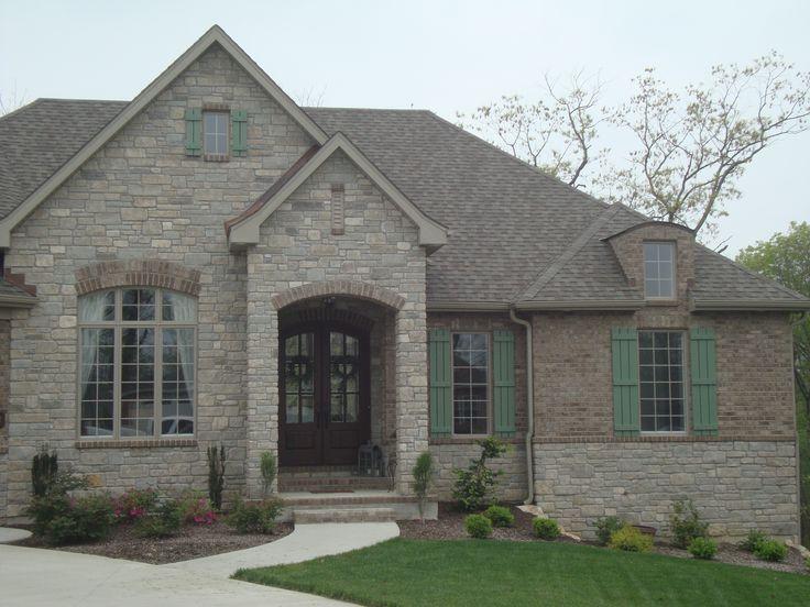 Com Rock Brick Stone Home House Stunning Home Exterior