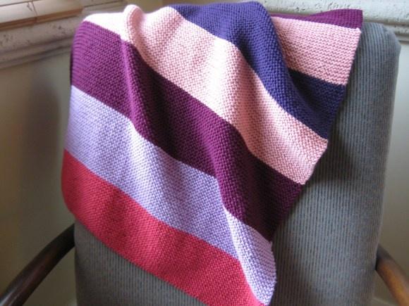 Knitting Baby Blankets Garter Stitch : Garter Stitch blanket Artwork that makes me happy Pinterest