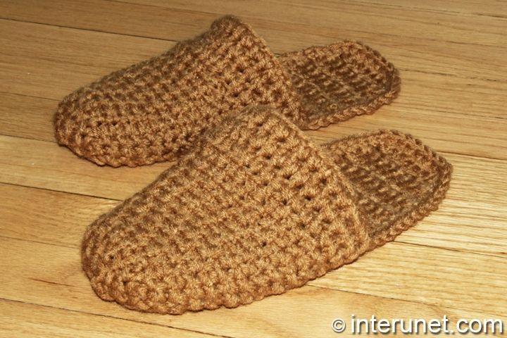 Crochet Patterns For Men s Gifts : men s-slippers-crochet-pattern jimmy Pinterest