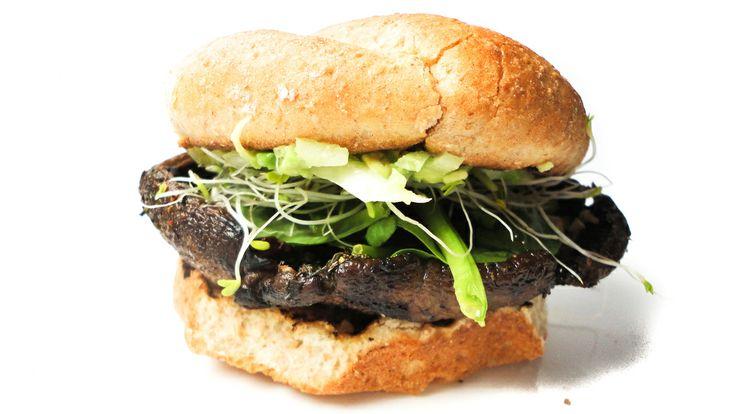 Portobello mushroom burger | An Apple A Day..... | Pinterest