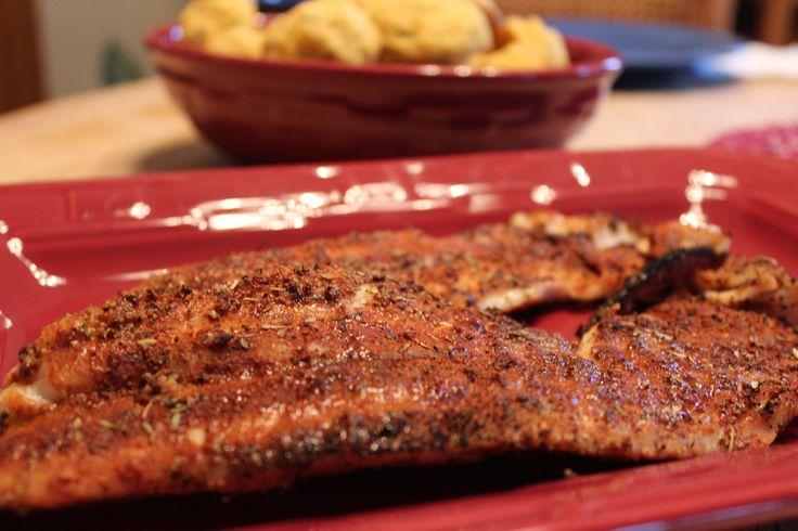 Blackened Red Snapper. Great blackening seasoning recipe--had all the ...