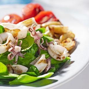 Grilled Calamari & Potato Salad This summery salad recipe matches ...