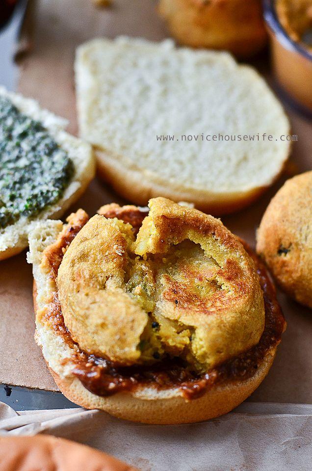 VADA PAV or INDIAN VEGETARIAN SLIDERS - potato fritters
