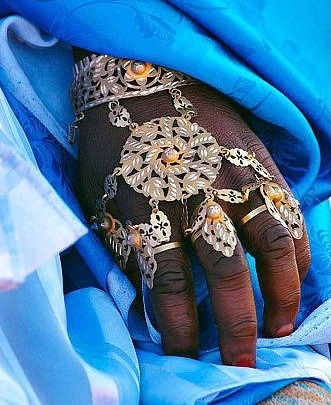 Tuareg hand ornament.