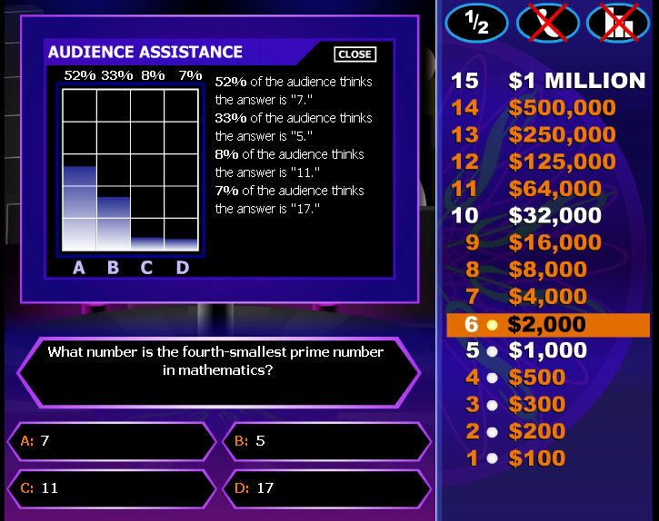 who wants to be a millionaire free game template