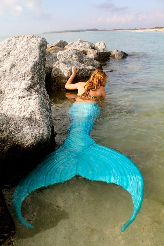 Blue Silicone Mermaid Tails