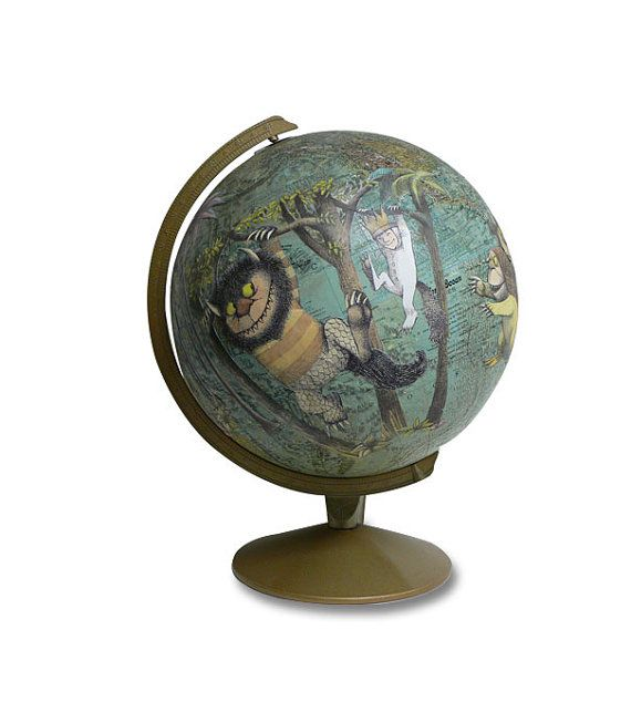 Where the Wild Things Are... on this globe!  i love this!